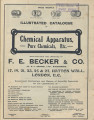 Illustrated catalogue of chemical apparatus : pure chemicals, etc.